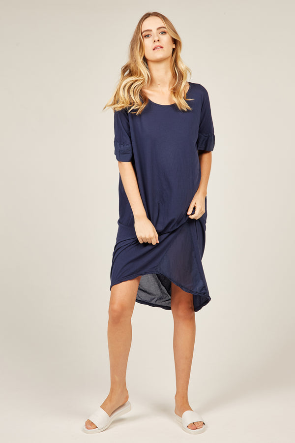 MINK TEE DRESS - NAVY