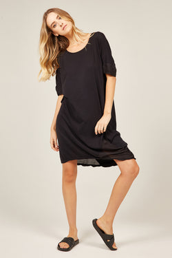 MINK TEE DRESS - NOIR