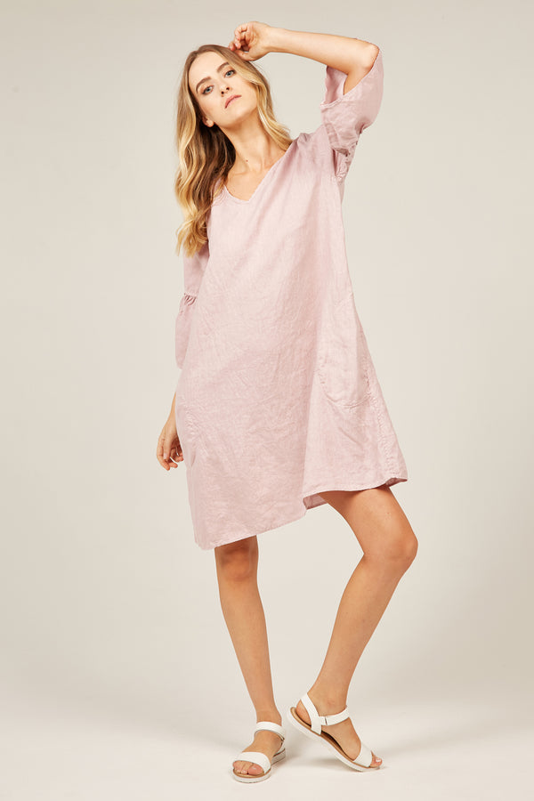 FLOSSI DRESS - DUSK PINK - SIZE 1 LEFT