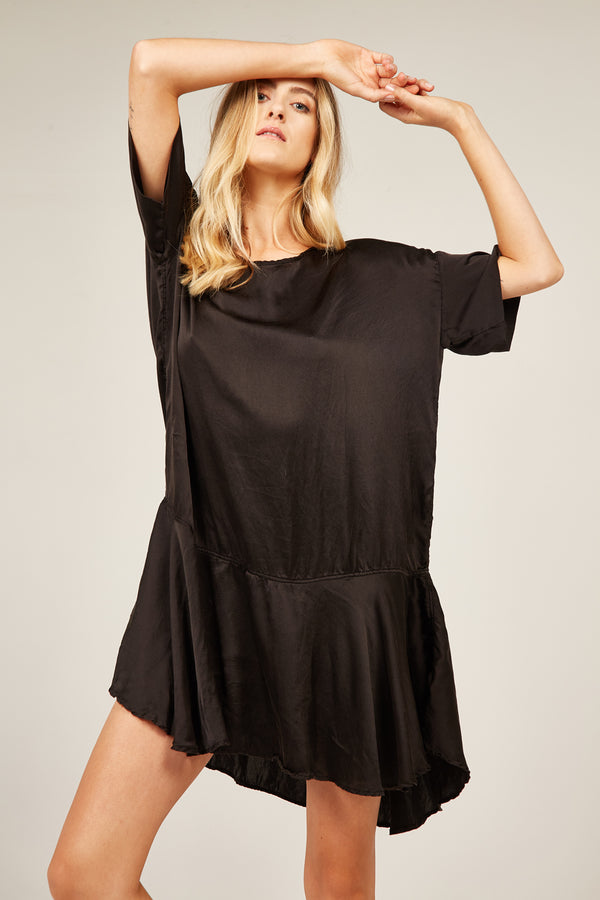 FLOUNCE DRESS - NOIR