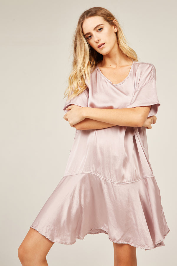 FLOUNCE DRESS - MAUVE