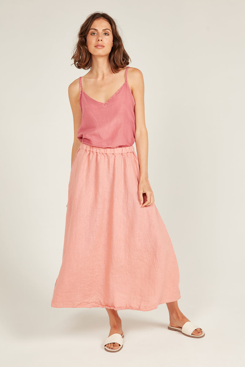 AMALFI SKIRT - POPPY PINK