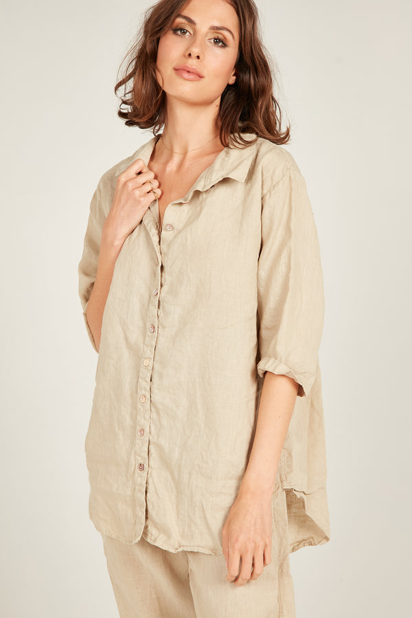 SEASIDE SHIRT - CAMEL