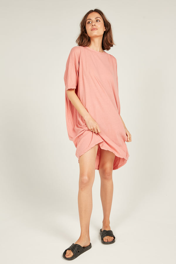 JUNIE DRESS - POPPY PINK