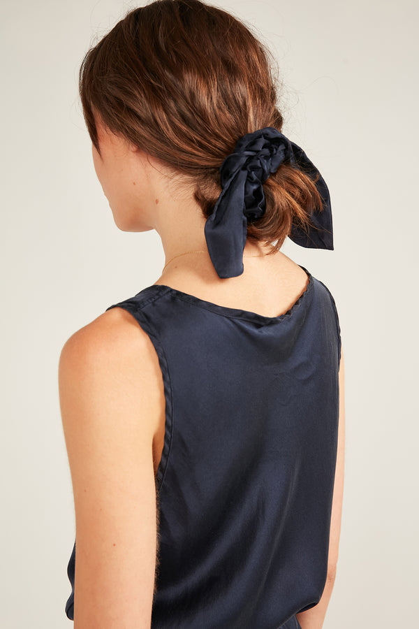BOW & SCRUNCHIE - DARK NAVY