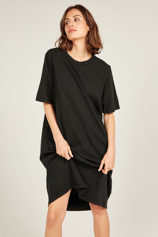 MONA TEE DRESS - NOIR