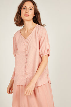 JOLEE BLOUSE - PINK KISS