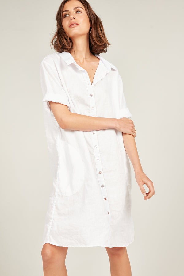 SEASIDE SHIRT DRESS - BLANC