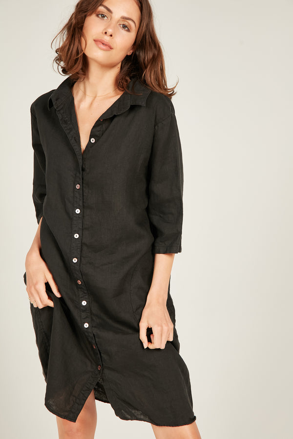 SEASIDE SHIRT DRESS - NOIR