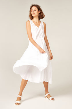 BYRON SUNSETS DRESS - BLANC