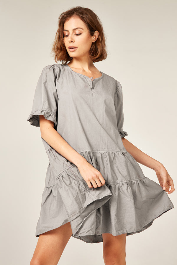 DUNE DRESS - SOFT GREY