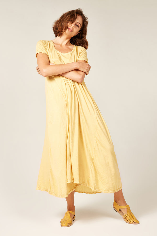 QUOET TEE DRESS - SUNFLOWER