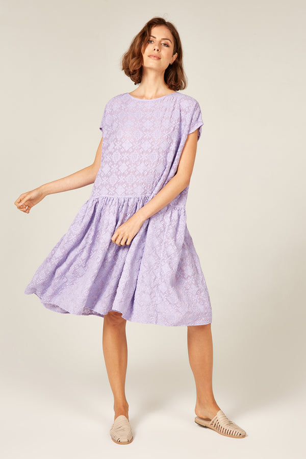 LELOU DRESS - LAVENDAR
