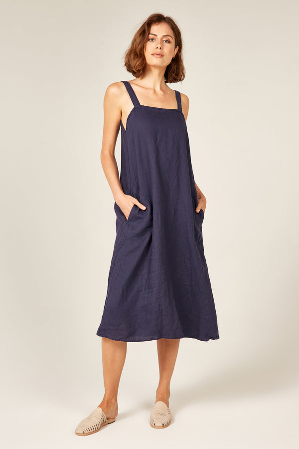 YUKU DRESS - NAVY (PRE-ORDER)
