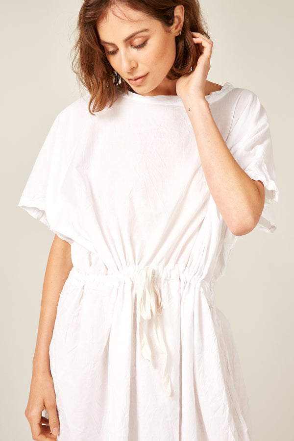 BEACH COVER UP - BLANC