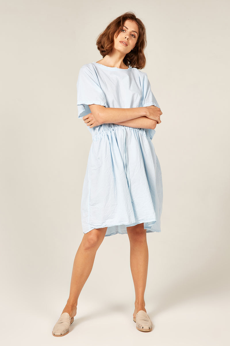 BEACH COVER UP - POWDER BLUE