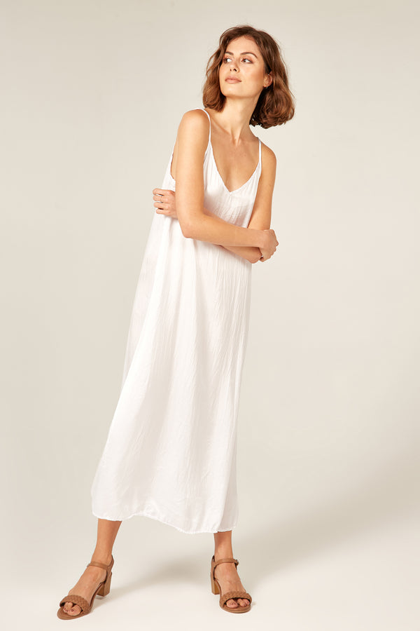 LONG DAZE SLIP - BLANC - SIZE 2 LEFT