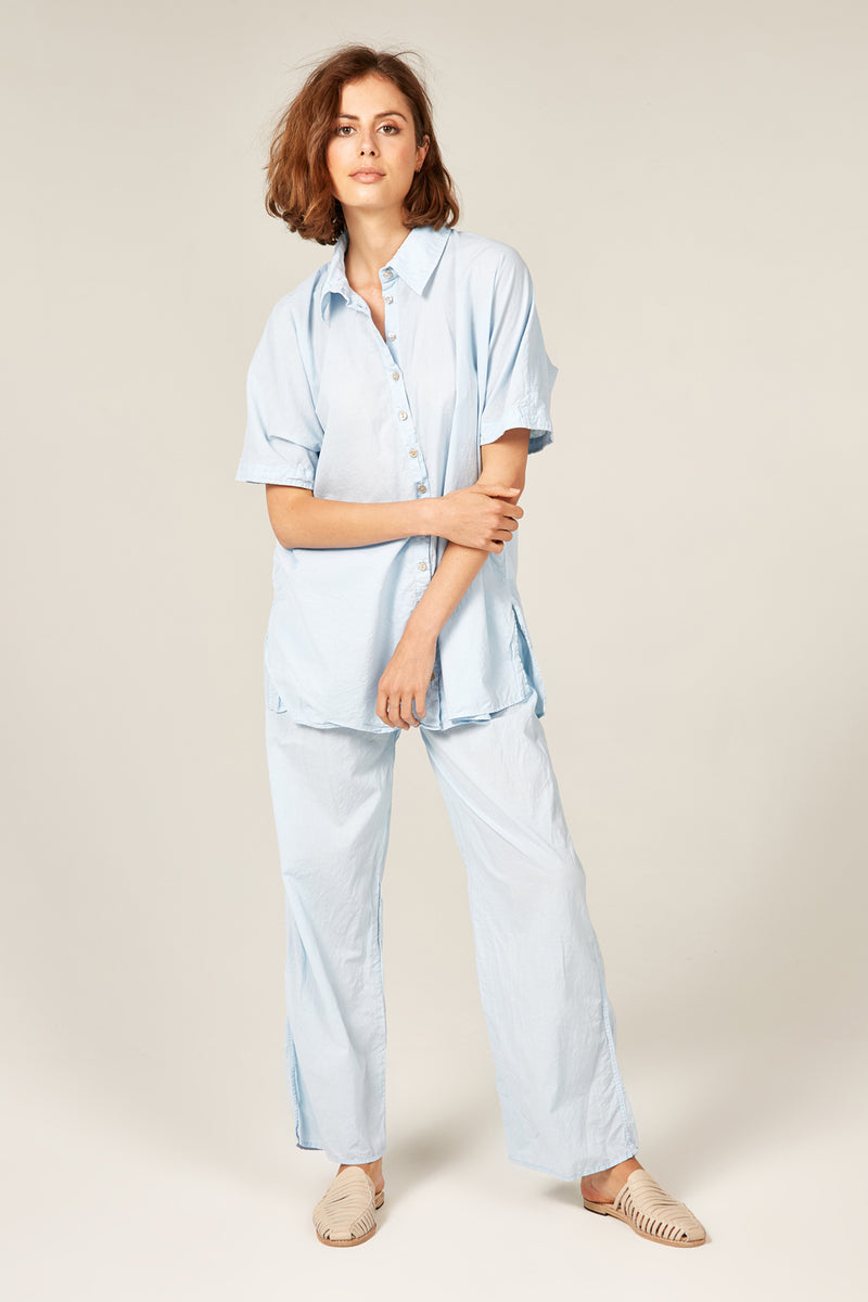 DEVOILE SHIRT - POWDER BLUE