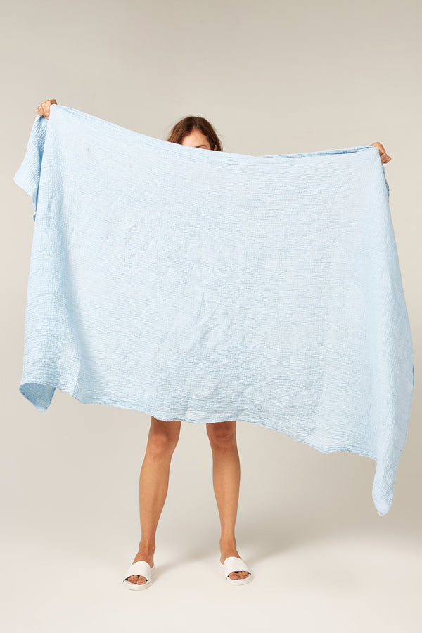 BEACH THROW - POWDER BLUE