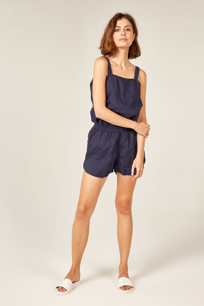 LIN SHORT  - NAVY