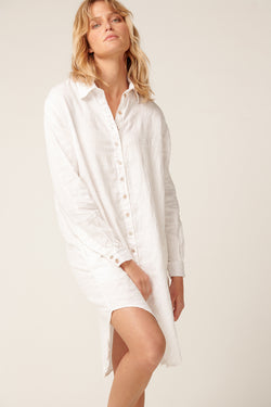 PARADISE SHIRT DRESS - BLANC (PRE-ORDER)