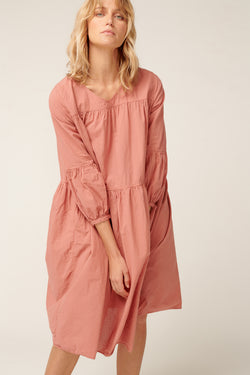 BIBY DRESS - DUSTY ROSE