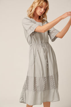 LUDIE DRESS - SOFT GREY