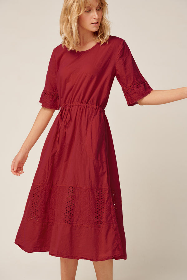 LUDIE DRESS - WINE