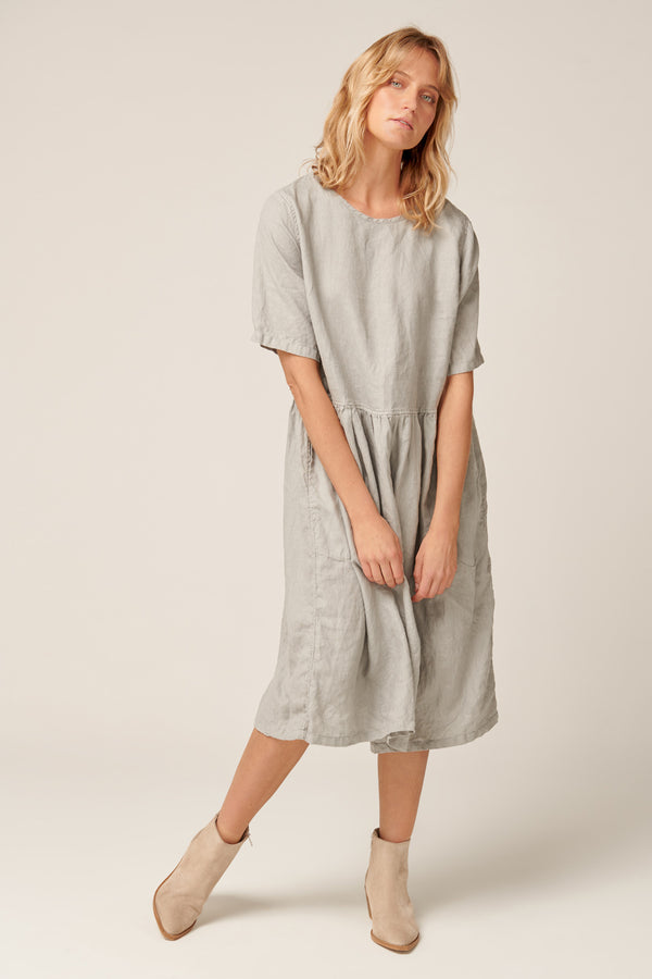ZAZZI DRESS - SOFT GREY