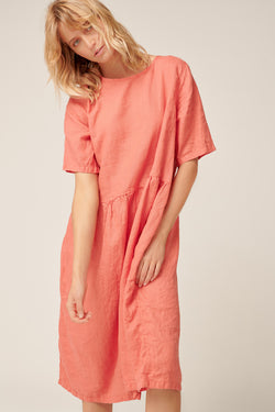 ZAZZI DRESS - CORAL