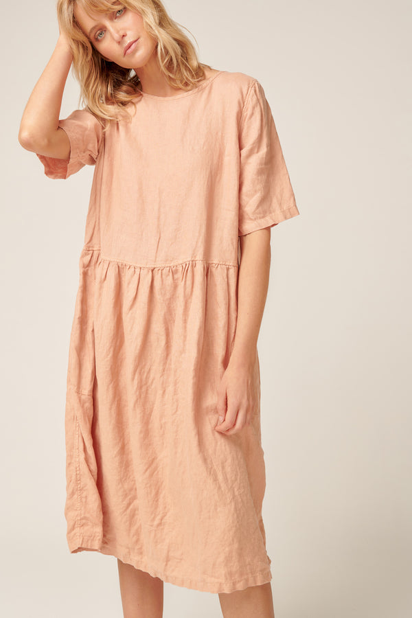ZAZZI DRESS - PEACHED
