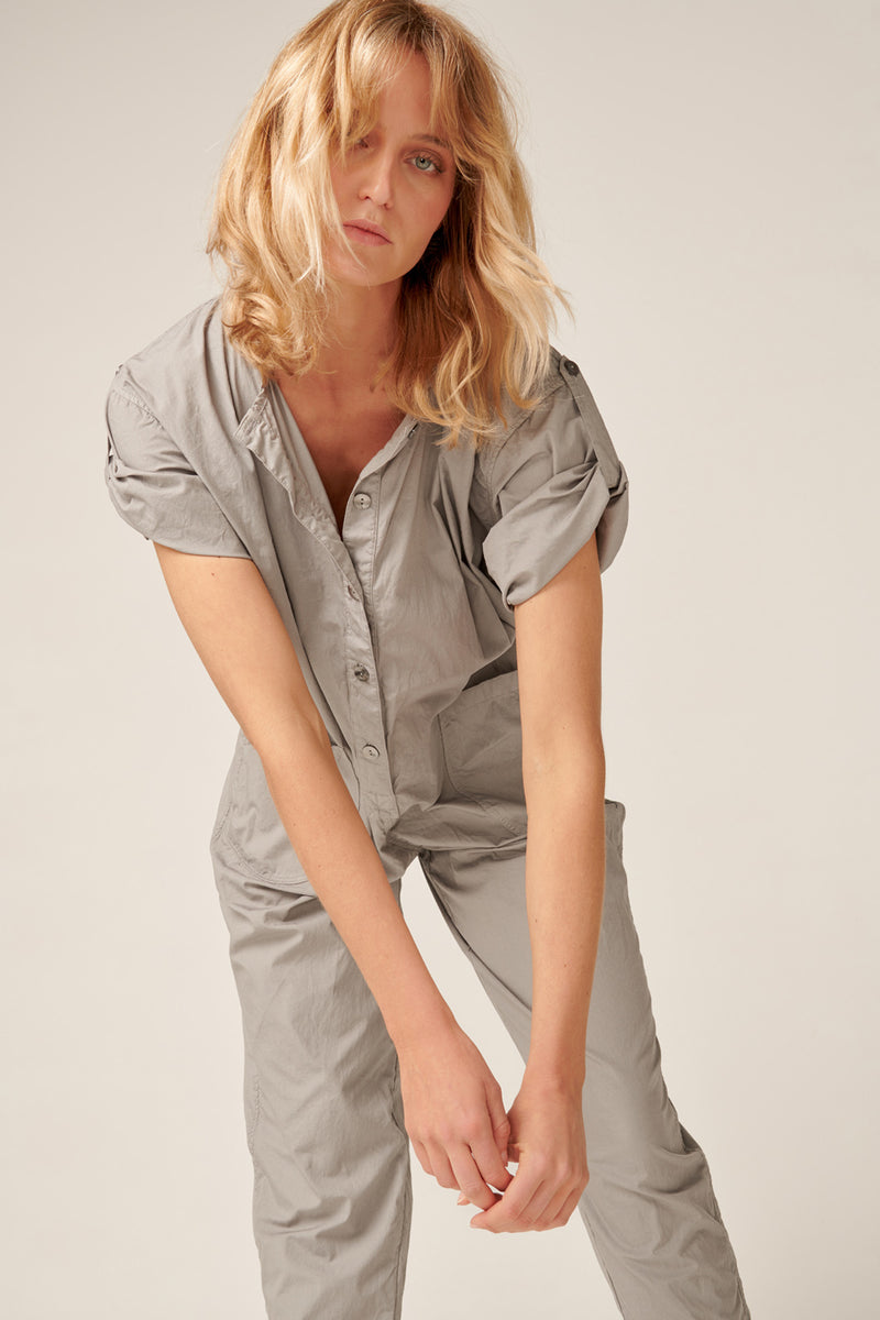 GOPPI JUMPSUIT - SOFT GREY