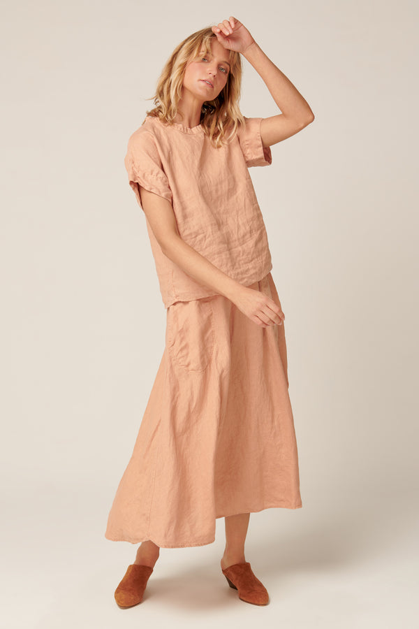 AMALFI SKIRT - PEACHED
