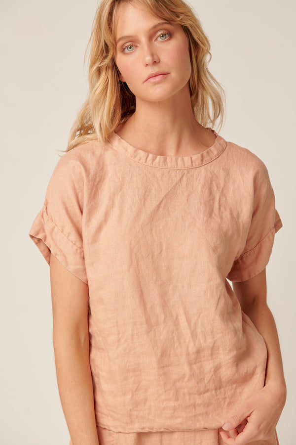 AMALFI TOP - PEACHED