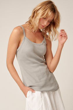 RIBBY SINGLET - SOFT GREY
