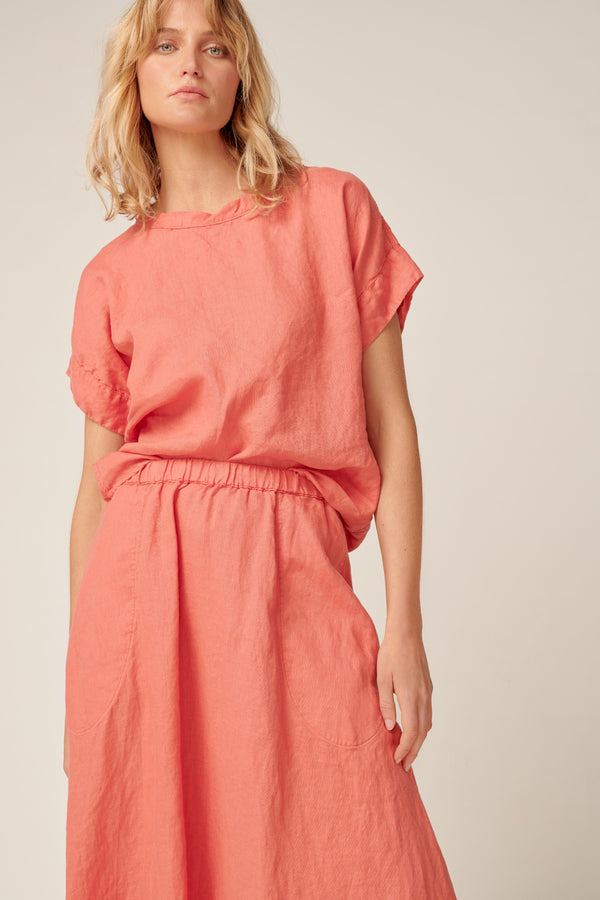 AMALFI TOP - CORAL