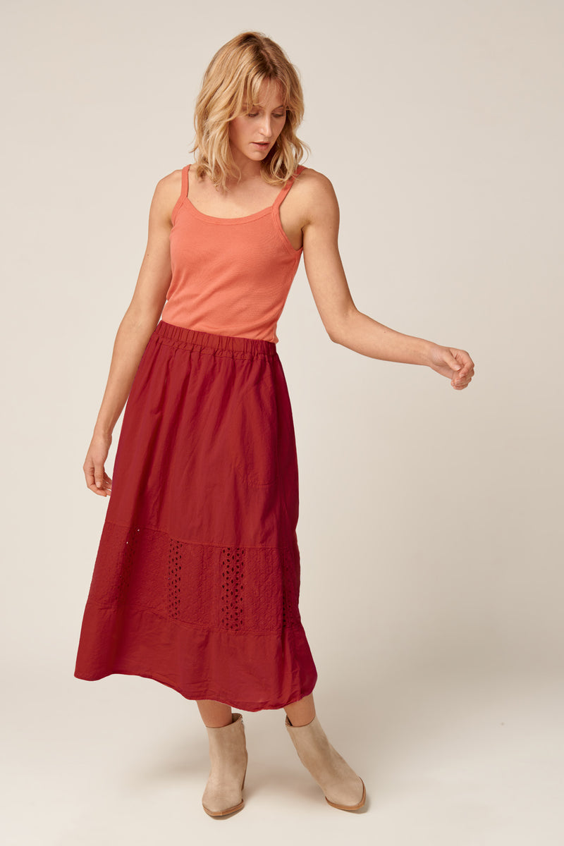LUDIE SKIRT - WINE