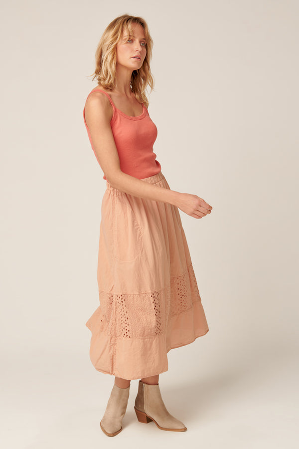 LUDIE SKIRT - PEACHED