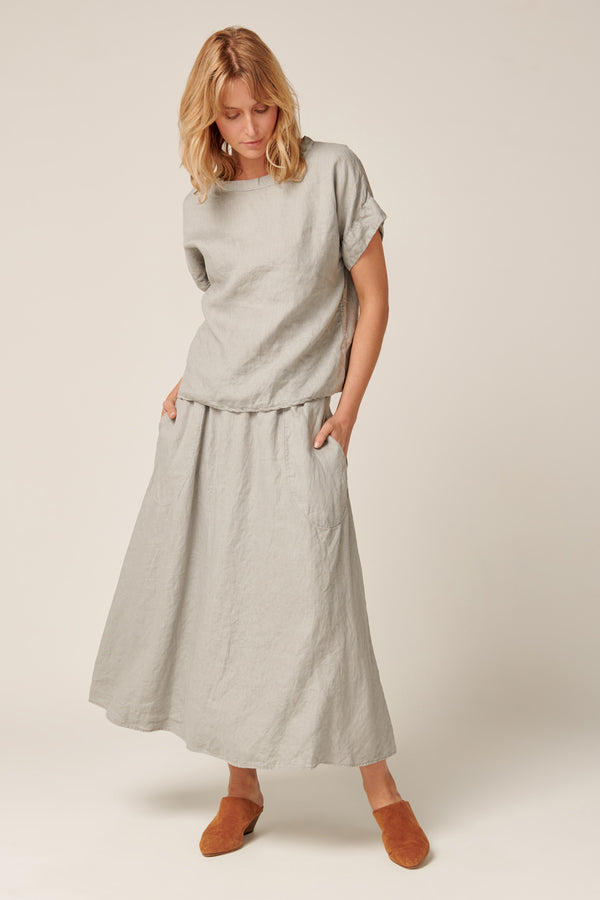 AMALFI SKIRT - SOFT GREY