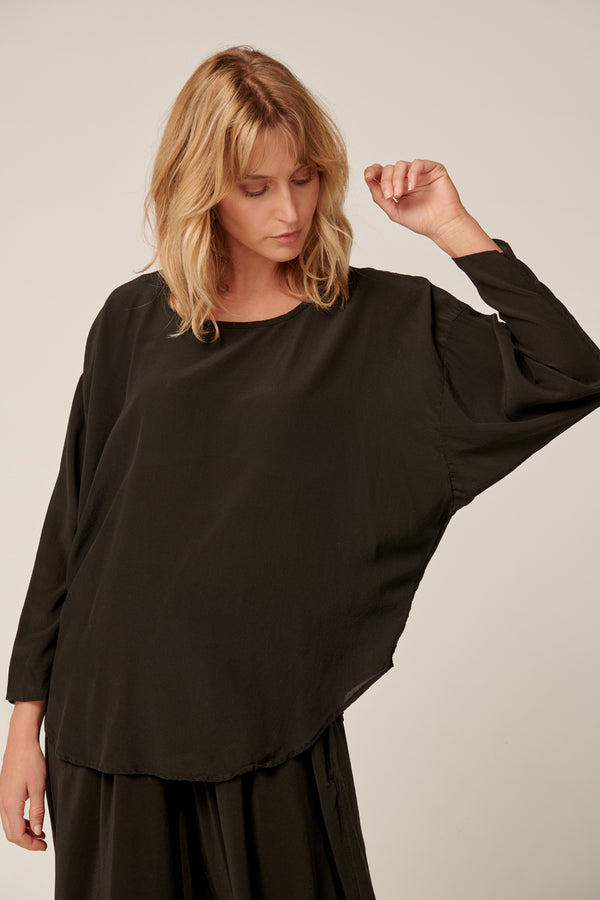 BATWING TOP - NOIR