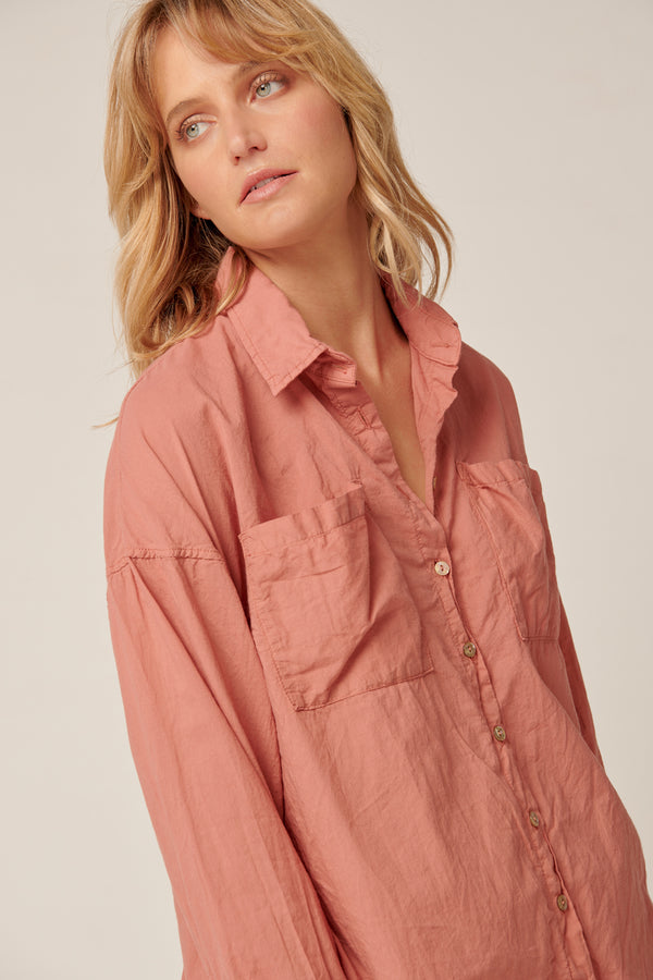 RUBY SHIRT - DUSTY ROSE
