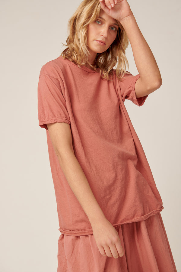 EVERYDAY TEE - DUSTY ROSE