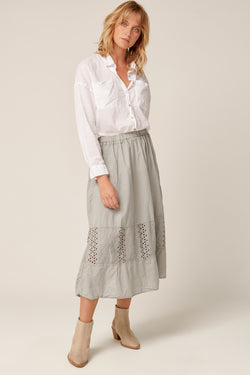LUDIE SKIRT - SOFT GREY