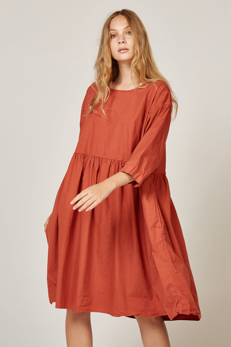 KUMI DRESS - TERRACOTTA
