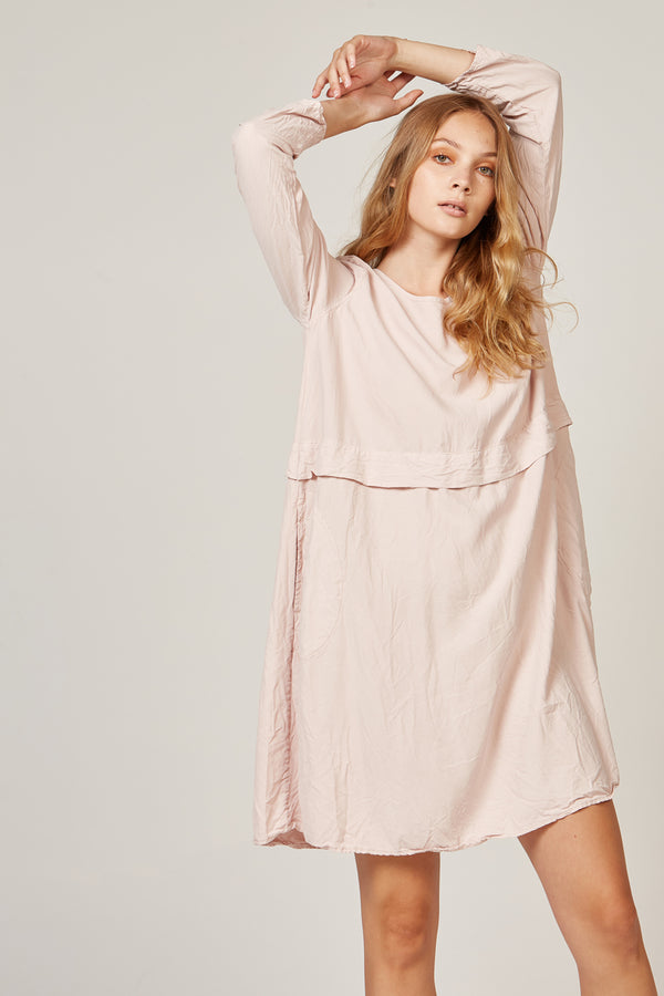 MISSY DRESS - POWDER PINK - SIZE 3 LEFT