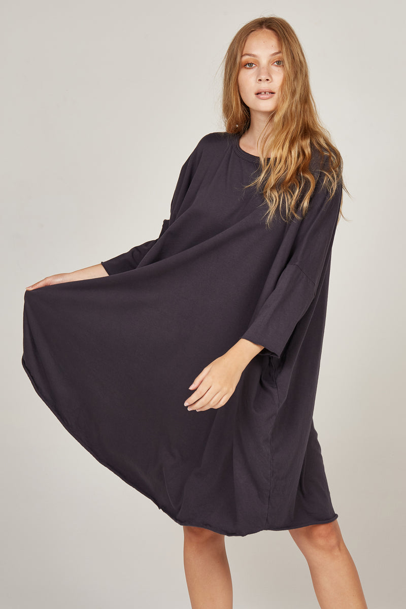 BOX L/S DRESS - INK