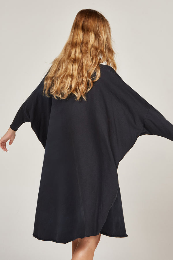 BOX L/S DRESS - NOIR