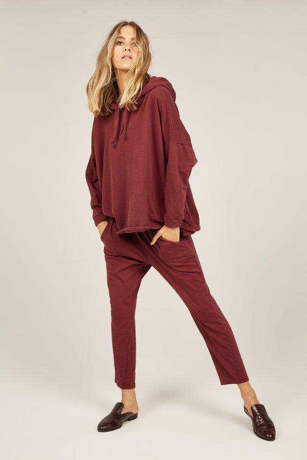 COZY TWISTY PANT - MERLOT