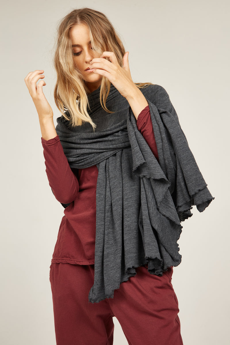 MEZ SCARF - CHARCOAL