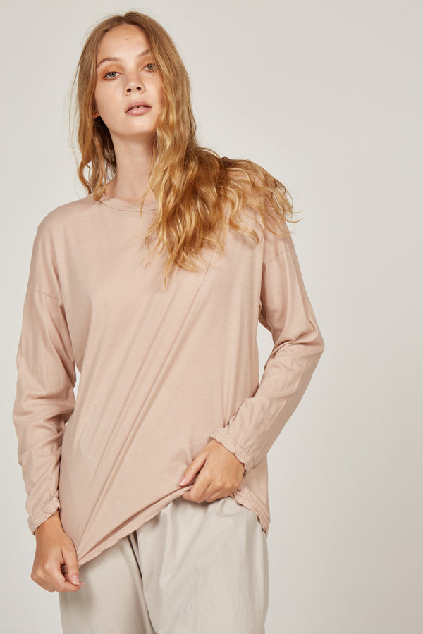 L/S DROPPED SHOULDER - CARAMELLO